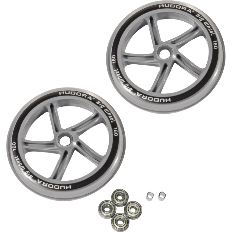 HUDORA Reserveset Wielen voor HUDORA Big Wheel, 180 mm Speelgoed