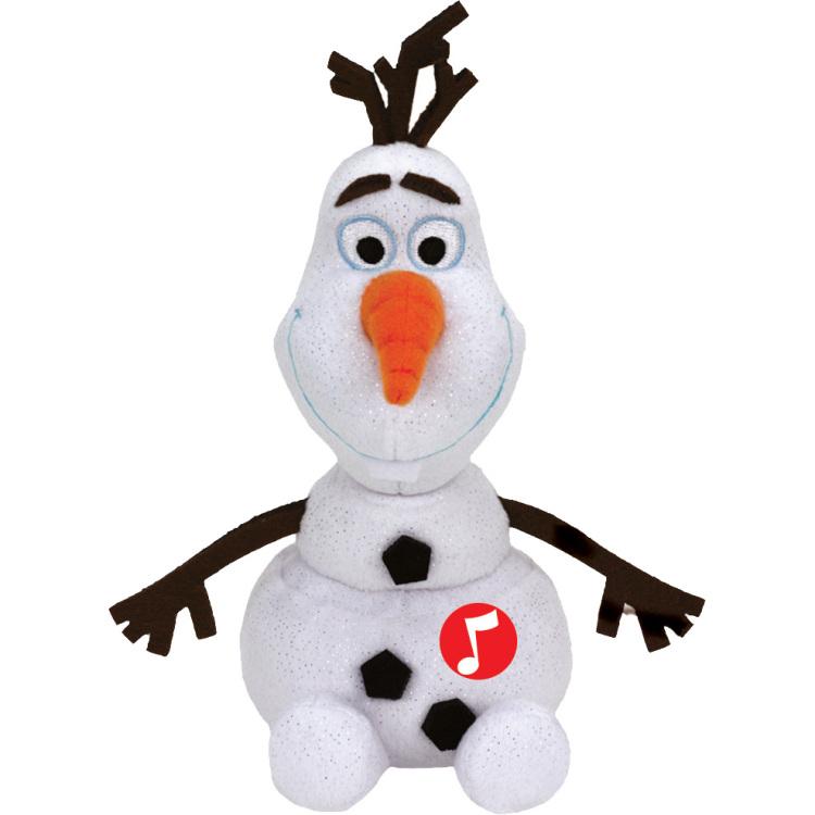 Ty Frozen Olaf Knuffel met Geluid 20cm