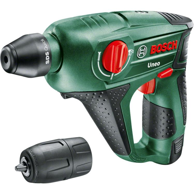 Bosch SDS-Quick-Accu-boorhamer 12 V 2.5 Ah Li-ion incl. accu, incl. accessoires, incl. koffer