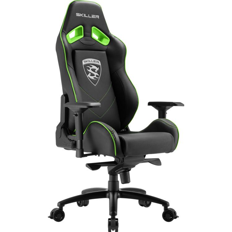 Skiller SGS3 Gaming Seat Bk-gn