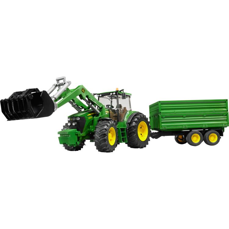 Tractor Bruder John Deere Met Aanhanger