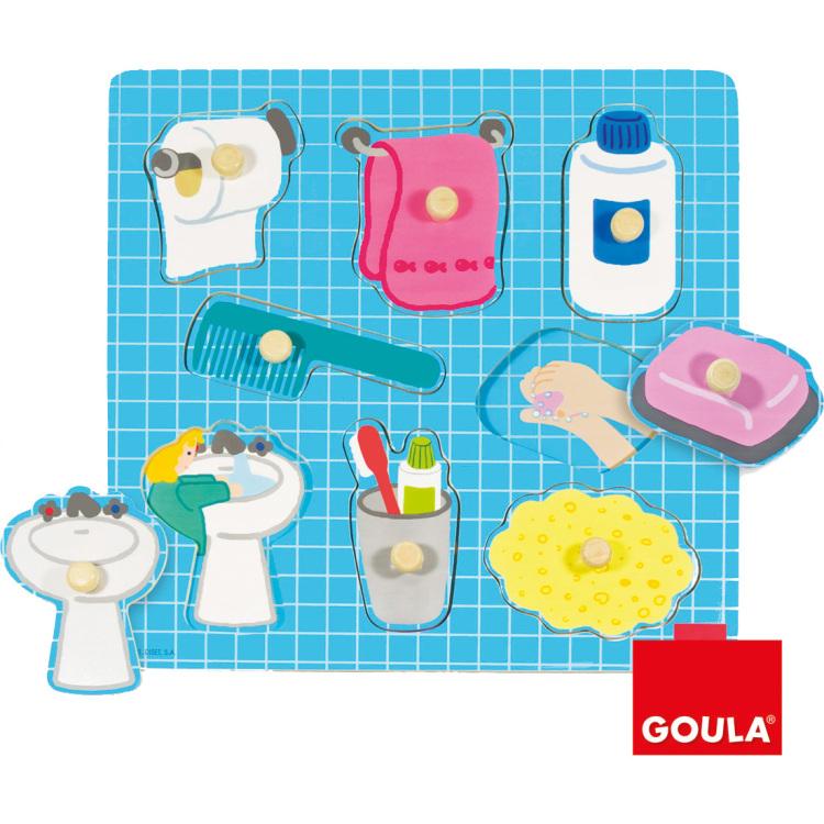 Goula houten puzzel badkamer 8 stukjes