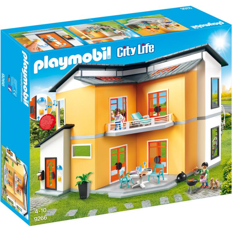 Playmobil City Life 9266 Zwart, Rood, Wit, Geel poppenhuis