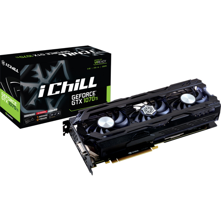 8GB D5 GTX 1070 TI iChill X3 voor €429