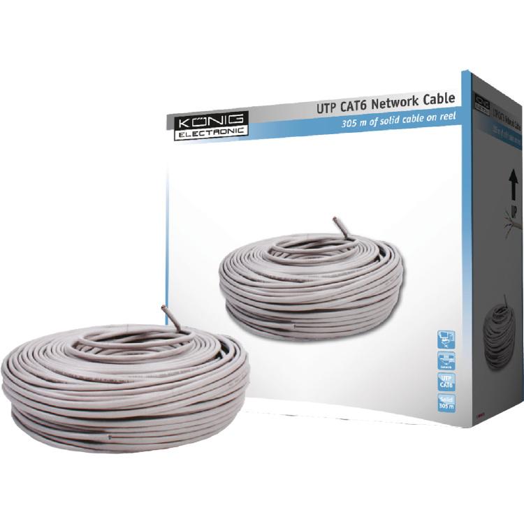 UTP CAT 5e solide netwerk kabel op rol van 305 m