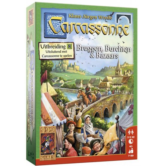 999 Games Carcassonne: Bruggen, Burchten en Bazaars uitbreiding