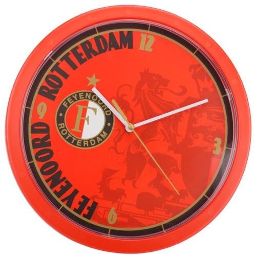 Feyenoord Wandklok - Leeuw - Rood