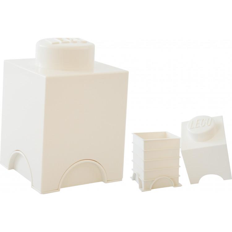 Lego Opbergbox - Brick 1 - 12,5 x 12,5 x 18 cm - 1,2 l - Wit