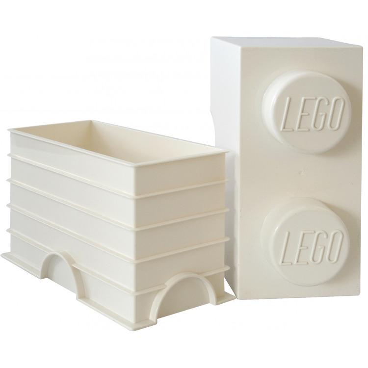 Lego Opbergbox - Brick 2 - 12,5 x 25 x 18 cm - 2,7 l - Wit