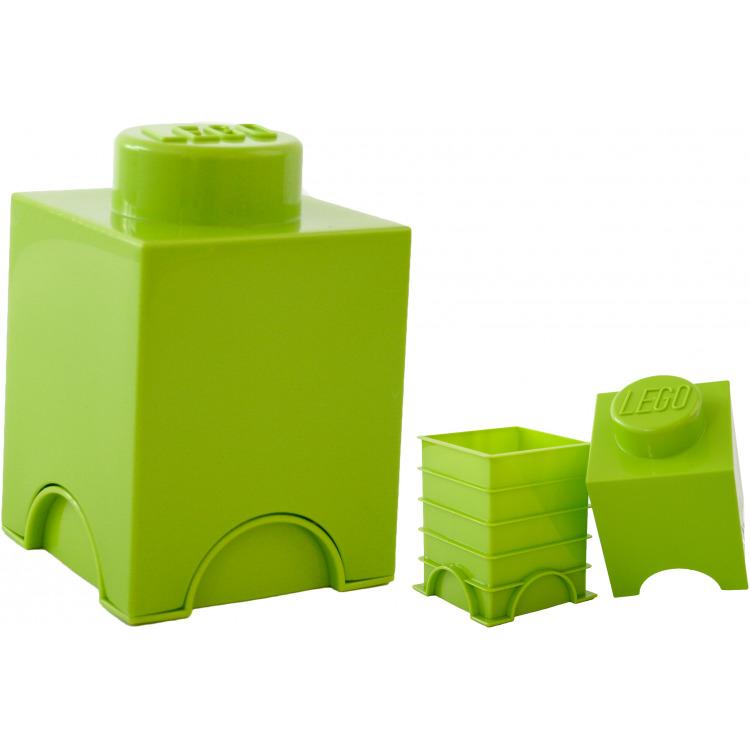 Lego Opbergbox - Brick 1 - 12,5 x 12,5 x 18 cm - 1,2 l - Limegroen
