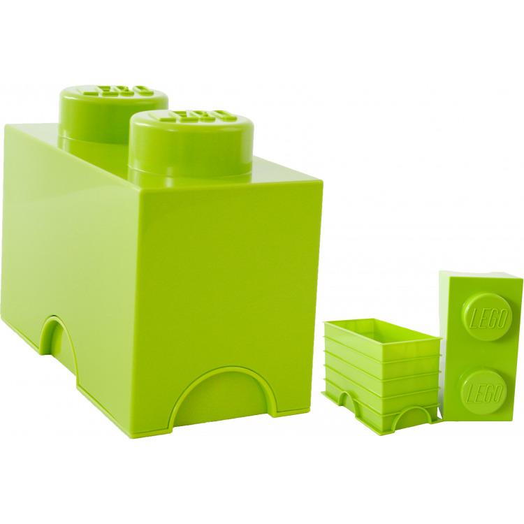 Lego Opbergbox - Brick 2 - 12,5 x 25 x 18 cm - 2,7 l - Limegroen