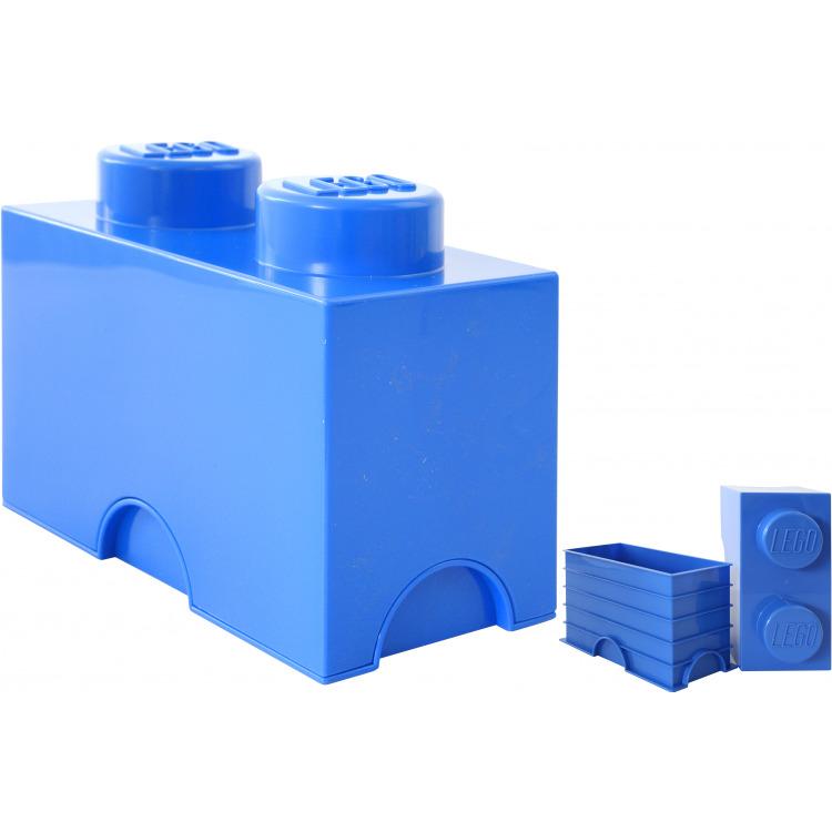 Lego Opbergbox - Brick 2 - 12,5 x 25 x 18 cm - 2,7 l - Blauw