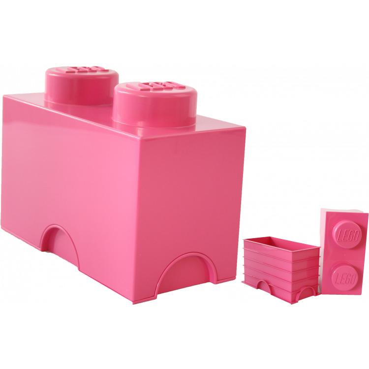 Lego Opbergbox - Brick 2 - 12,5 x 25 x 18 cm - 2,7 l - Fuchsia