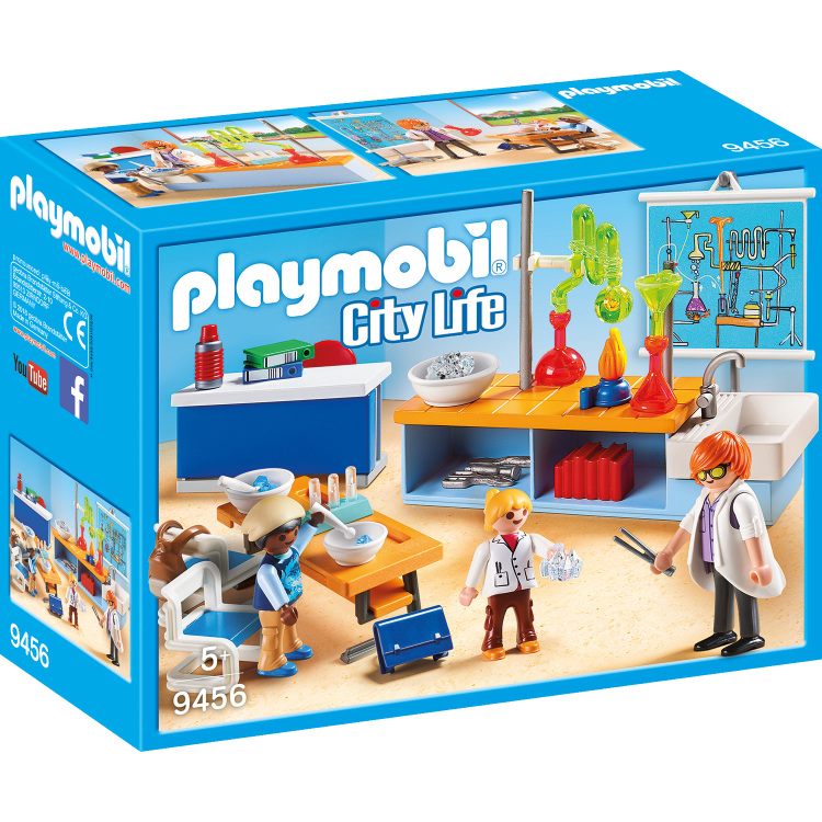 PLAYMOBIL City Life - Scheikundelokaal 9456