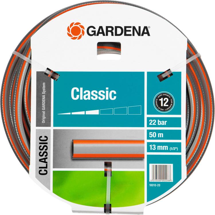 Tuinslang GARDENA 18010-20 1-2 inch 50 m Grijs, Oranje