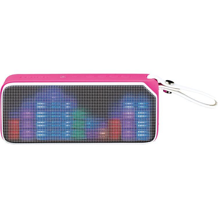 Lenco Bluetooth stereo speaker discolamp BT-191 roze