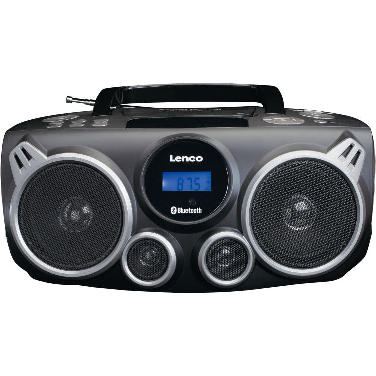 Lenco SCD-100 FM CD-radio AUX, Bluetooth, CD, SD, FM, USB Zwart