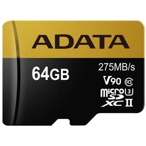 ADATA Premier ONE microSDXC 64 GB geheugenkaart AUSDX64GUII3CL10-CA1, UHS-II U3, Class 10, incl. adapter
