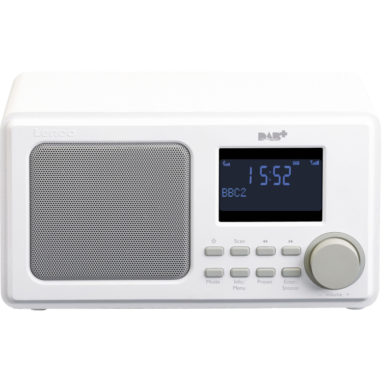Lenco DAR-010 Persoonlijk Digitaal Wit radio