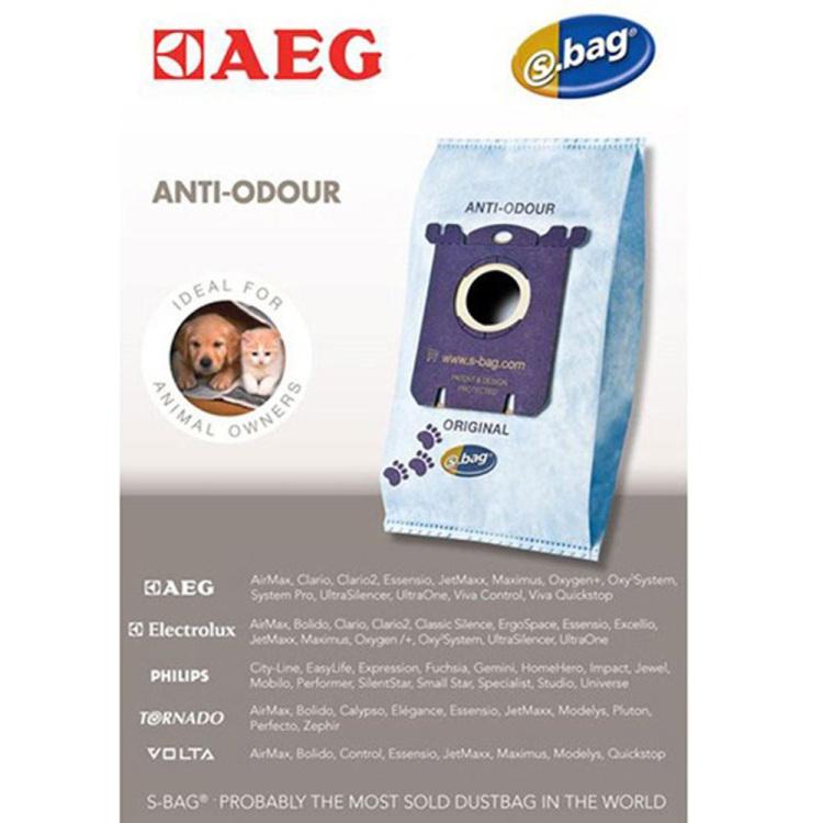 AEG S-Bag anti-odour GR203, 4 stuks stofzuigerzak