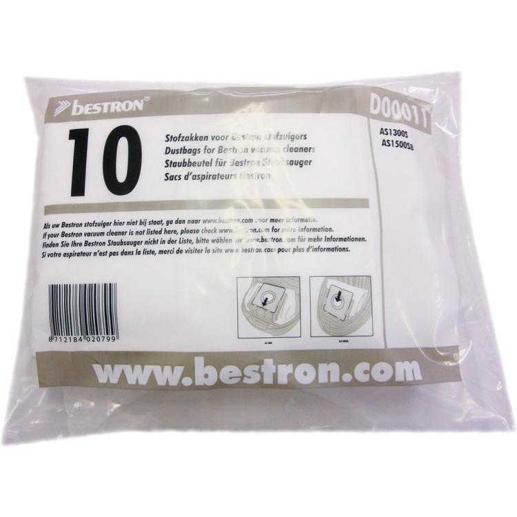 Set van 10 Bestron D00011 stofzakken -