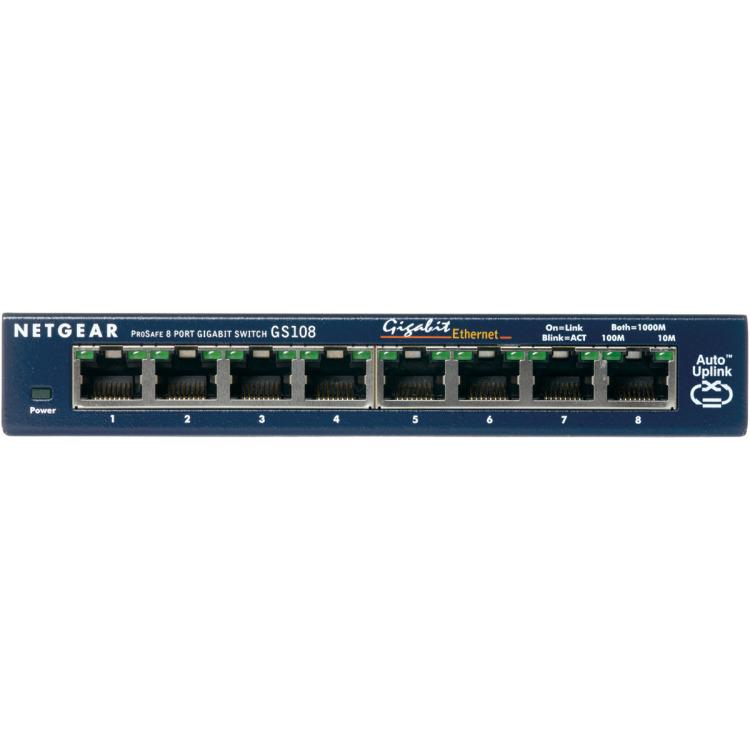Netgear Prosafe GS108 8 Poorts Switch