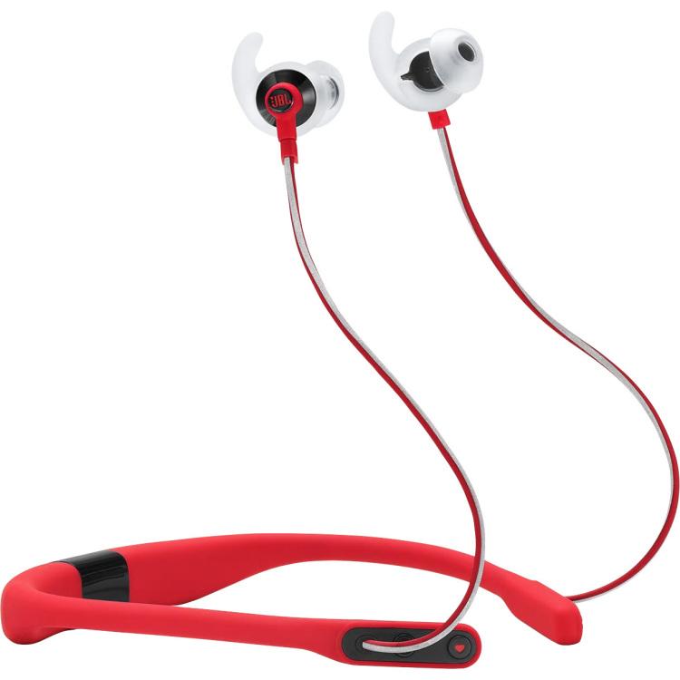 JBL Reflect Fit Bluetooth Sport Oordopjes In Ear Bestand tegen zweet, Nekbeugel Rood