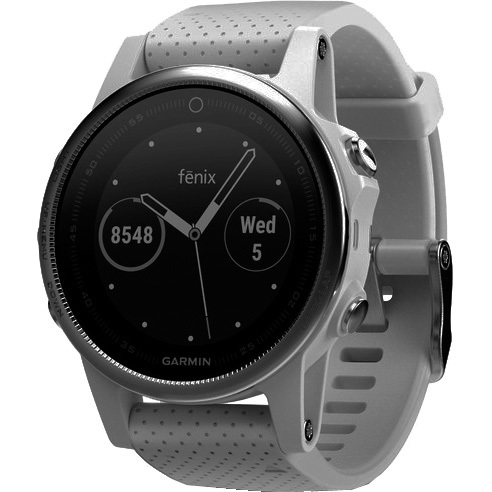 GARMIN Fenix 5S Wit met witte Carrara band