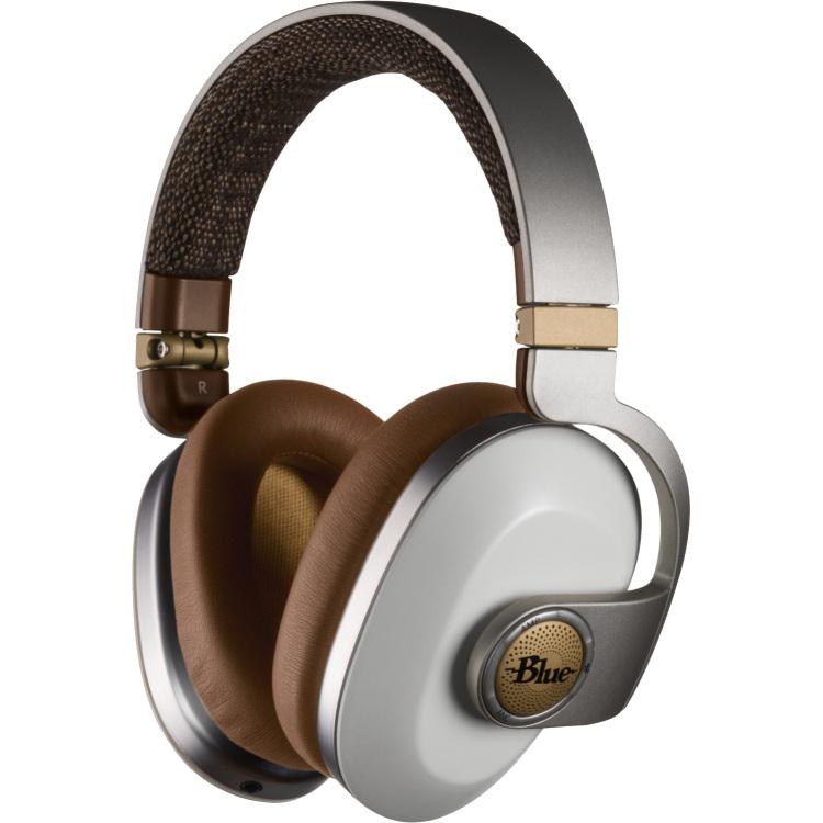 Blue Satellite White Bluetooth over-ear studiokoptelefoon
