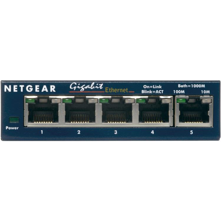 NETGEAR Gigabit Ethernet switch Prosafe GS105 5 Poorts