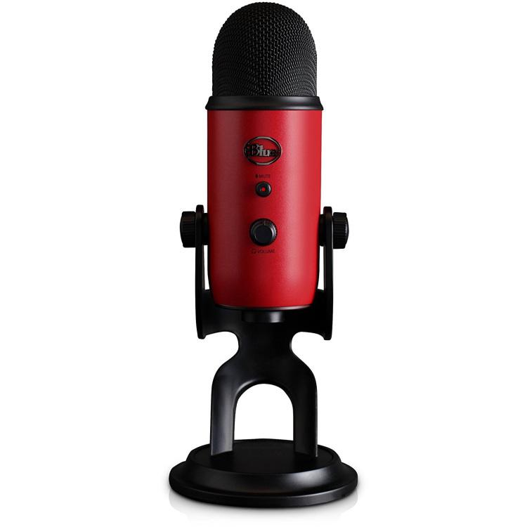 Blue Mic Yeti USB MicrophoneSatin Red