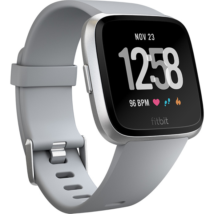 Fitbit Versa Gray-Silver Aluminum
