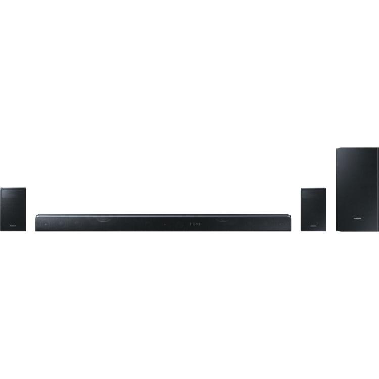 Samsung Soundbar Incl. draadloze subwoofer, Bluetooth, WiFi, Wandbevestiging Zwart