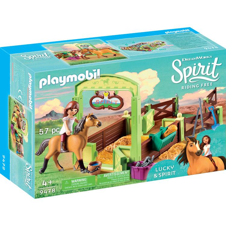 Alternate-PLAYMOBIL Spirit Riding Free - Lucky en Spirit met paardenbox 9478-aanbieding