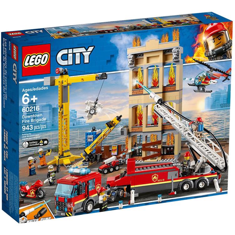 Doe mee met de spannende reddingsactie van de brandweerhelden in het centrum van de stad met de lego city ...