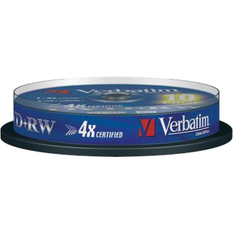 Verbatim DVD+RW Matt Silver (43488)