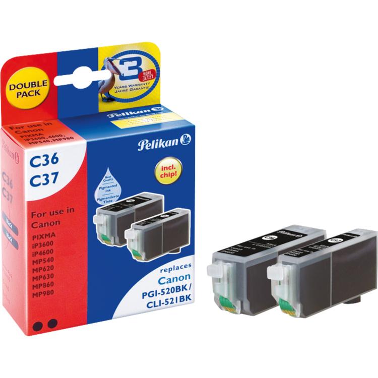 Inktcartridges 2-pack zwart C36 C37 (4105615)