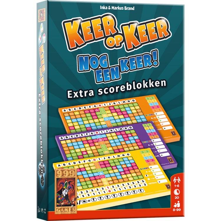 999 Games Keer op Keer scoreblok 3 stuks