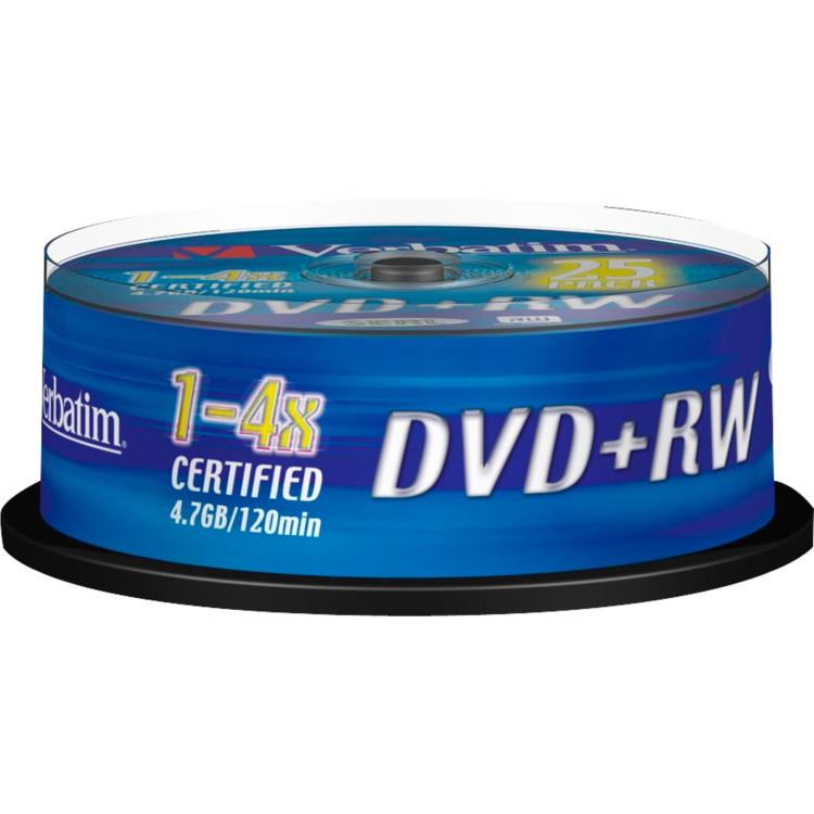 Verbatim DVD+RW 43489 4.7 GB 120 min. 25 Stuks