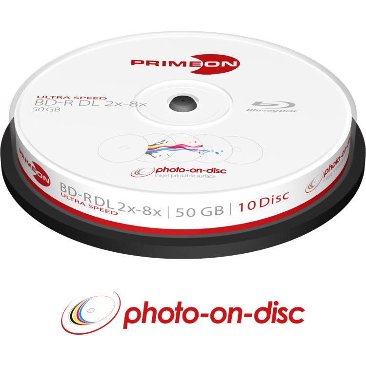 Blu-ray BD-R DL disc 50 GB Primeon 2761312 10 stuks Spindel