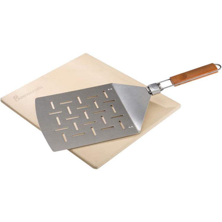 Pizzasteen met RVS spatel kopen
