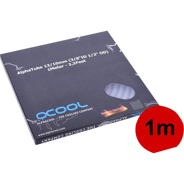 Alphacool Slang AlphaTube HF 13/10 (3/8ID) - helder, 1 meter