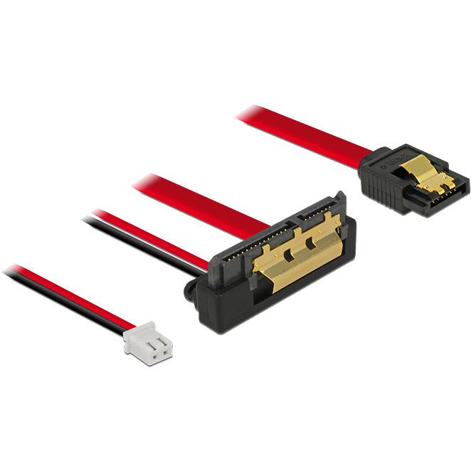DeLOCK SATA 6 Gb/s 7 pin + 2 pin power female > SATA 22 pin adapter