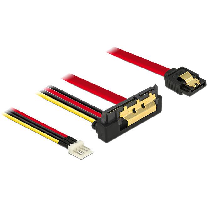 DeLOCK SATA 7 pin + Floppy 4 pin power male > SATA 22 pin adapter