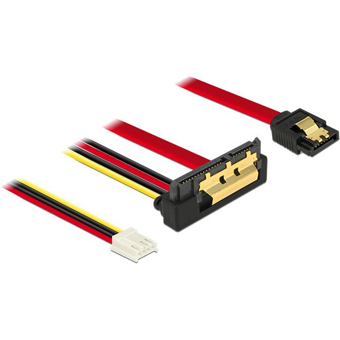 DeLOCK SATA 7 pin + Floppy 4 pin power female > SATA 22 pin adapter