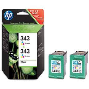 HP Dubbelpak inktpatronen »HP CB332EE« HP 343
