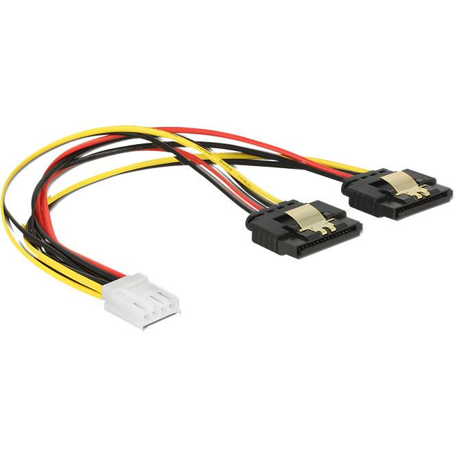 DeLOCK Power Floppy 4-pin female > 2 x SATA 15-pin female splitterkabel