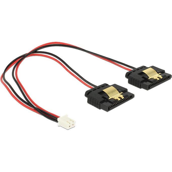 DeLOCK Power 2-pin female > 2 x SATA 15-pin splitterkabel