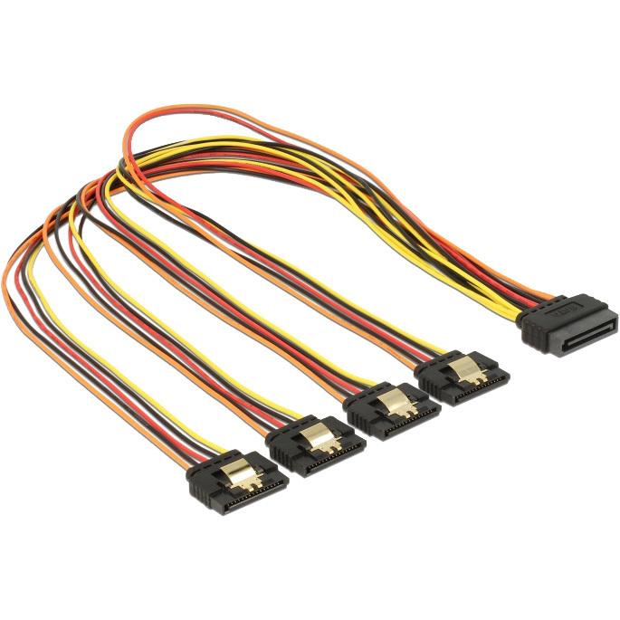 DeLOCK SATA 15 pin power > SATA 15 pin power 4x kabel