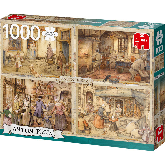 Anton Pieck - Bakkers uit de 19e eeuw puzzel